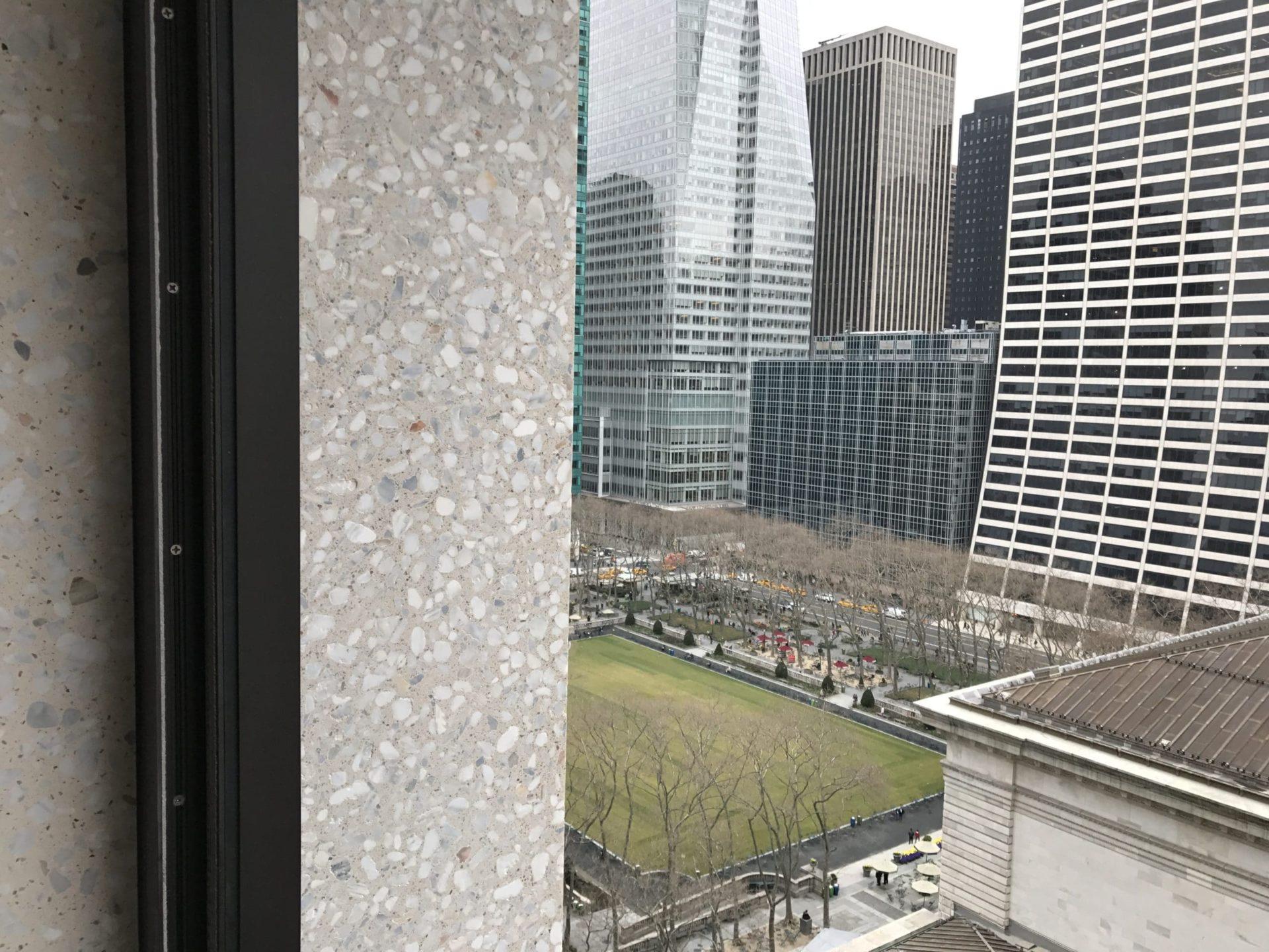 Bryant NYC Terazzo Stone comparison to concrete terrazzo finish