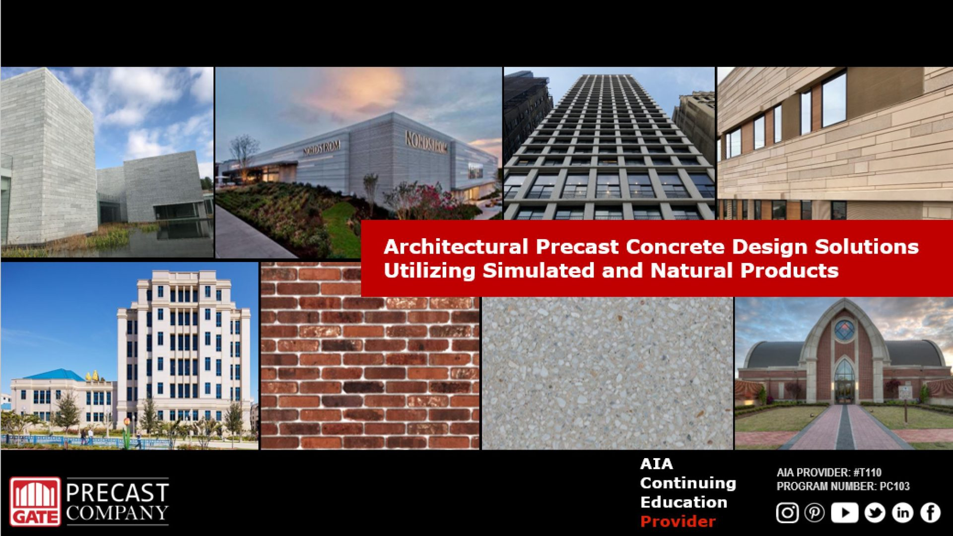 PC103 Architectural Precast Concrete Design Solutions Utilizing Simulated and Natural Products