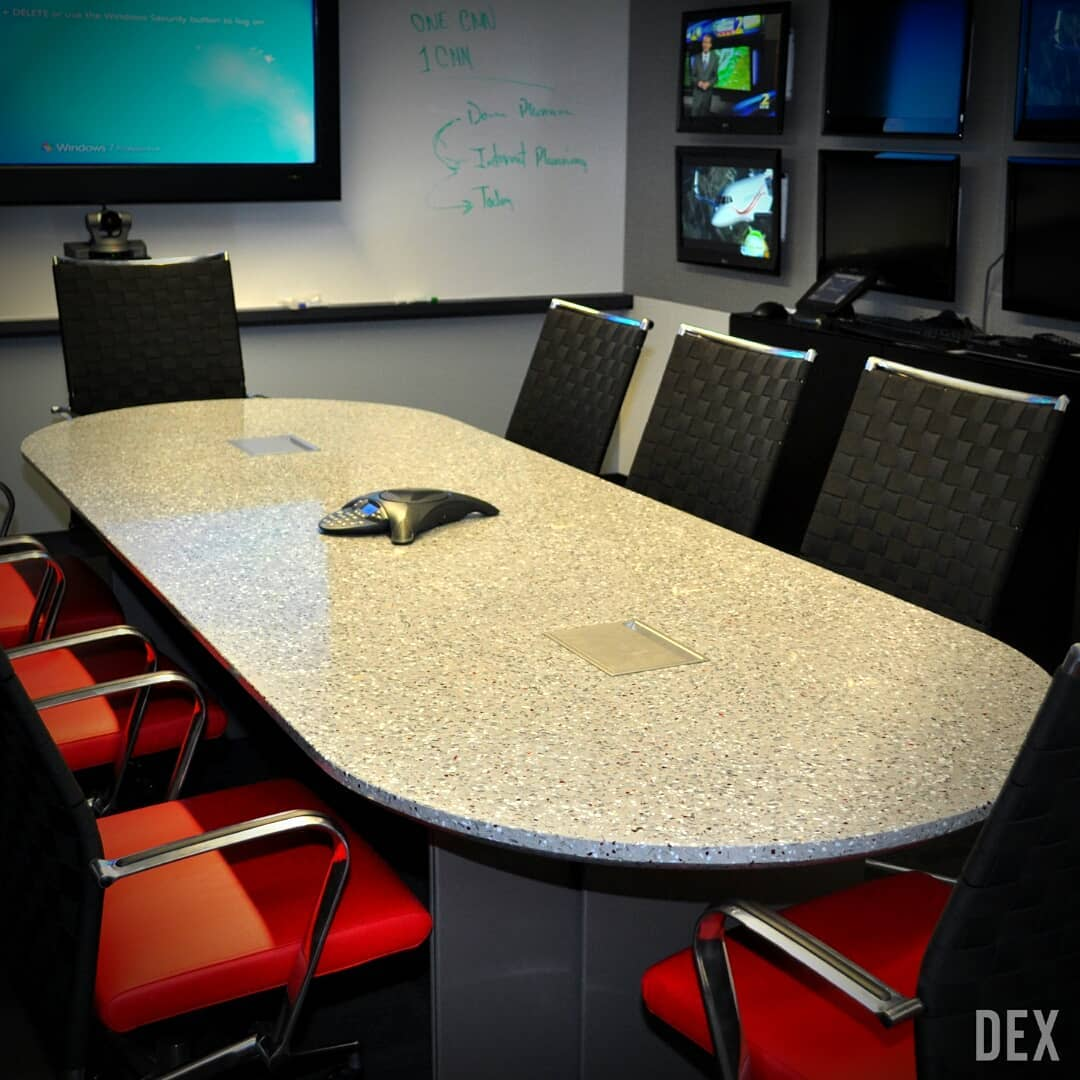 Conference room red chairs CNN